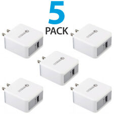 5x Quick Charge 3.0 Qualcomm Certified 18W Fast Rapid USB Wall Charger Adapter