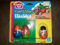 SUPER RARE THE FLINSTONES WEEBLES 1970'S ON CARD ROMPER ROOM VINTAGE TOY AWESOME