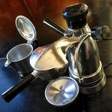 SALTON Vesuviana VINTAGE ITALIAN ESPRESSO Antique Coffee Maker Atomic-Era CHROME