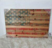 "American Dream by Parvez Taj Painting Print on Natural Pine Wood 24""x 15.75 """