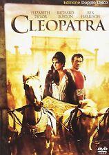 CLEOPATRA CON ELIZABETH TAYLOR E RICHARD BURTON (DVD) NUOVO, ITALIANO, ORIGINALE