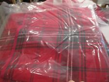 Williams Sonoma Classic Adult Christmas red tartan Apron New with tag