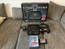 Sega Mega Drive II OVP + 2 Spiele Die Schlümpfe Sonic Compilaton