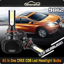 2x 9012 HIR2 CREE COB LED Headlight Bulb High/Low Beam Kit 120W 6000K 12000LM