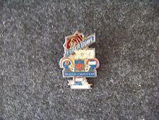 SB S.B. Super Bowl 21 XXI Champions Broncos NY N.Y. Giants medium lapel pin v2