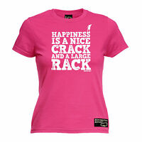 Happiness Is A Nice Crack Large Rack WOMENS T-SHIRT Climbing Rock Gift birthday