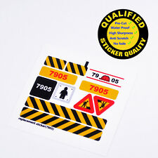 CUSTOM sticker for LEGO 7905 City Tower Crane, Premium quality