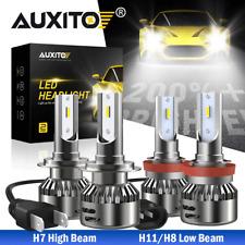 4x Combo H7 H11 LED Headlight Bulbs Kit High Low Beam White 6000K Super Bright