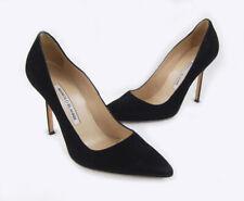 Manolo Blahnik Women's Black Suede Pointed Toe Heel Shoe Size 37.5 7.5