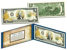 United States Air Force $2 Bill U.S. Legal Tender Gold Leaf Laser Line Military