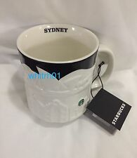 Starbucks Sydney Relief Mug Harbour Bridge Australia Ferry Black