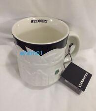 Starbucks Sydney Relief Mug Harbour Bridge Australia Ferry Black