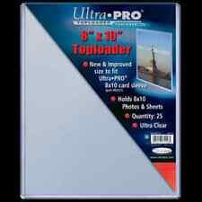 """Ultra Pro Toploader 8""""x10"""" Clear Card Photo Holder 25 Pack - Case Top Loader CDG"""