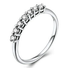 0.3ct Full Cut Natural Diamond Solid 18K White Gold Wedding Ring Engagement Band