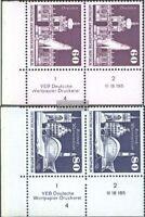 DDR 1919DV-1920DV mit Druckvermerk (kompl.Ausg.) gestempelt 1974 Aufbau in der D