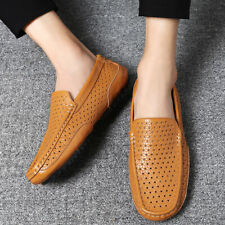 Mens Driving Moccasins Breathable Hollow Slip On Loafers Gommino Leisure Shoes