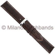 18mm Di Modell Indiana Brown Handmade Stitched Genuine Lizard Watch Band Reg