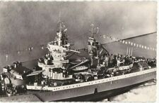 CPA 29 BREST Marine Photo Maquette au 1/100e du Cuirassé Le RICHELIEU  1935-1968
