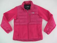 The North Face 550 Goose Down Hybrid Pink Fleece Womens Small Puffer Jacket MINT