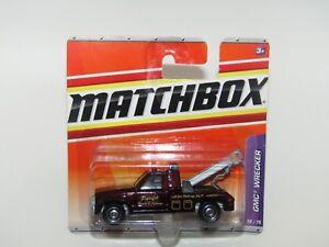 Matchbox Superfast 2009 No 73 GMC Wrecker Truck Metallic Burgundy MIB
