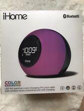 iHome Bluetooth Alarm Clock, Led Color Chging, Radio, Streaming & Usb Charging
