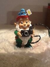 Hallmark Magic Light Ornament - Holiday Flash - Elf With Camera 1990 - VGC
