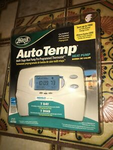 HUNTER AutoTemp 7Day Multi-Stage Heat Pump Pre-Programmed Thermostat Model 44760