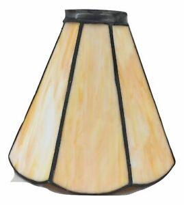Vetro stile Tiffany cono ambra ricambio paralume per lampada applique abat-jour