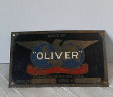 Oliver Machinery Co. Brass Tag, Old Style