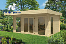44 mm Gartenhaus 500x380 cm Blockhaus Holzhaus Gerätehaus Holz Ferienhaus Haus