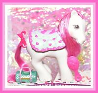 ❤️My Little Pony MLP G1 Vtg 1990 Secret Surprise Pretty Puff Pony with Saddle❤️