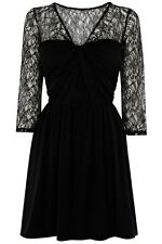 BNWT 💕Coast💕Size 10 Serene Black Lace Summer Wedding Holiday Party Dress 38EU
