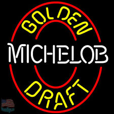 "Michelob Golden Draft Neon Sign 24""x20"" From Usa"