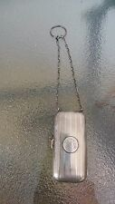 ANTIQUE Ladies Victorian COIN Money Purse Sterling Silver