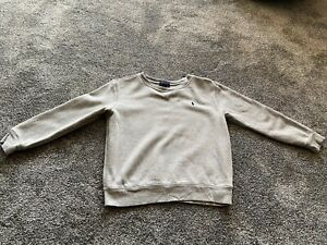 Boys Grey Ralph Lauren Sweatshirt Age 7