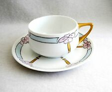 Vintage Rosenthal Donatello Deco Cup and Saucer Pink Blue Gold