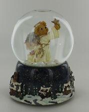 Boyds Bear Lighted Musical Snowglobe - Angel Bear - Angels We Have Heard On High