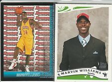 (2) MARVIN WILLIAMS RC LOT 2005-06 TOPPS & BOWMAN