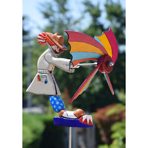 Whirligig Asuka Windmill Whirly Spinner Garden Decoration Wind Sculpture