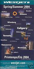 Airline Timetable - WestJet - 18/04/04  (Canada)
