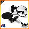 Black Round Folding Bar End Mirrors for Ducati Monster 696 796 1100 Hypermotard
