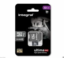 Integral 32GB UltimaPro Micro SD Memory Card with Adaptor SDHC SDXC Class 10
