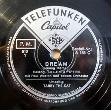 "Die Pied Pipers - Dream - Tabby The Cat - Telefunken - /10"" 78 RPM"