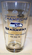 Seattle Seahawks Commemorative Pint Glass NFL Super Bowl 48 XLVIII Champions