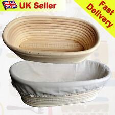 UK  2x 25cm Oval Banneton Brotform Dough Bread Proofing Proving Rattan Basket