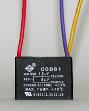 CEILING FAN CAPACITOR CBB61 1.5uf+3uf 3 WIRE