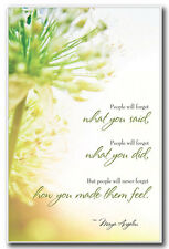 """Author Poet Maya Angelou Quote POSTER  """"People will never forget how..."""" 11x17"""