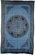 Celtic Knots Bedspread, Mandela Blue: Tapestry, Hippie, Wall Hanging! 72 x 108