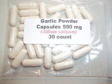 Garlic Powder Capsules (Allium satiuum) 590 mg - 30 Count