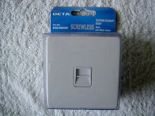 Single Outlet Secondary Telephone Socket - Flat Plate In White Screwless look